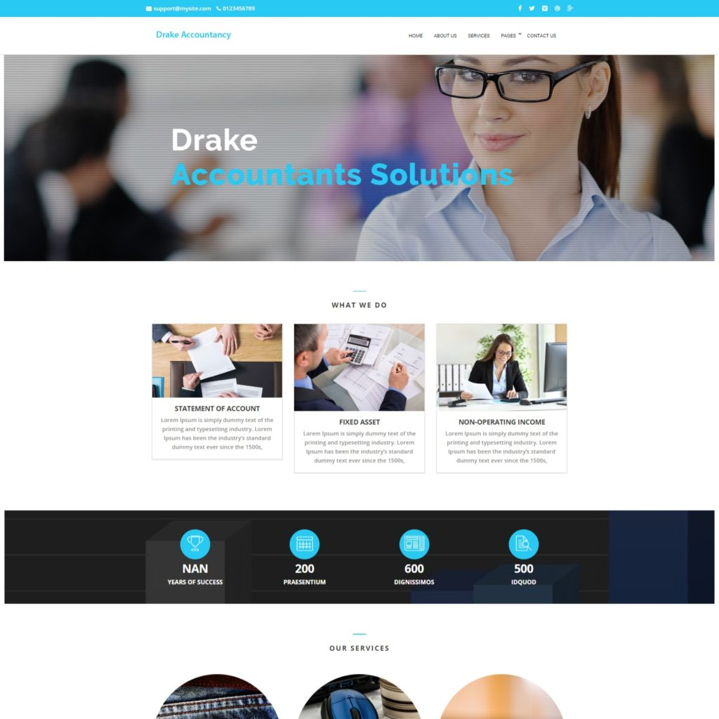 affordable website design for small accounting practices