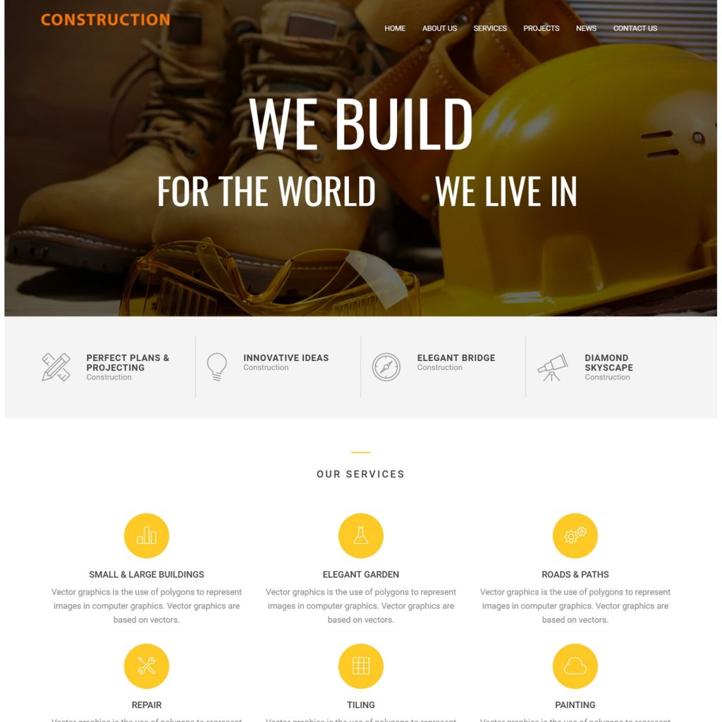 affordable website design for small construction companies