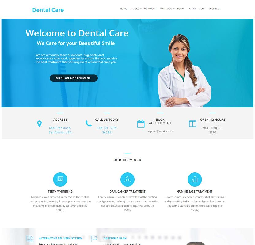 affordable website design for dentist in cape town