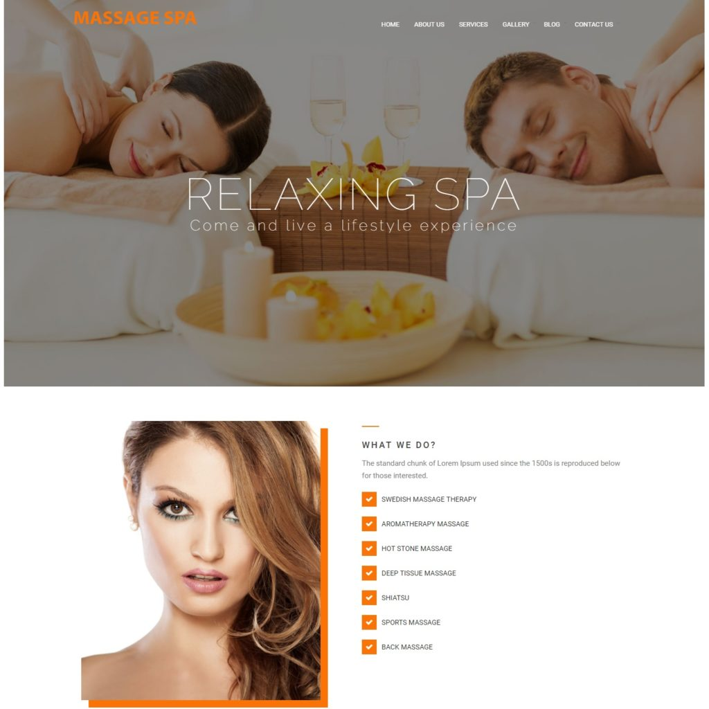 basic web design package for spa and beauty practices